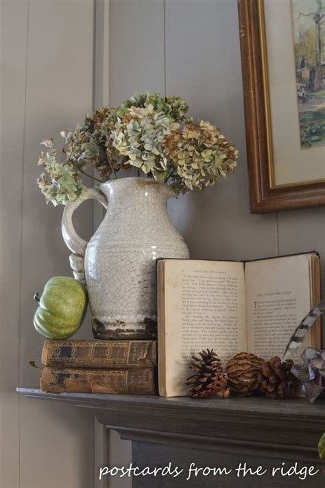 mantles are falling books fireplaces mantles decor and hydrangeas on