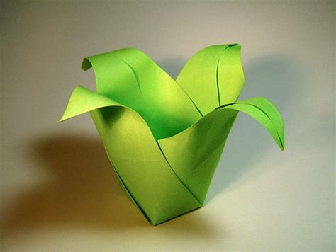 Origami Pot - origami floral pot jeff beynon flickr photo