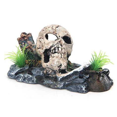 Skull Aquarium Decorations by 2018 Pirate Skull Skeleton Aquarium Ornament Hiding Cave