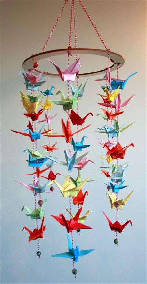 How To Make A Paper Crane Mobile - 25 best ideas about origami cranes on origami