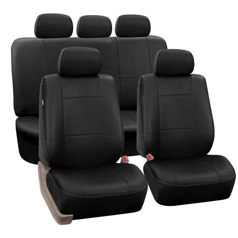 leather bench seat cover 3 row pu leather seat covers airbag safe split bench