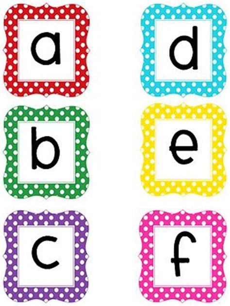 printable letters for bulletin board technology rocks seriously more polka dot letters