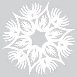 How To Make Paper Patterns - how to make paper snowflake with wings pattern to cut out