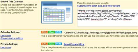 agenda module google calendar drupal site