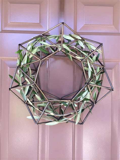 how to make a wreath from branches diy himmeli wreath with olive branches