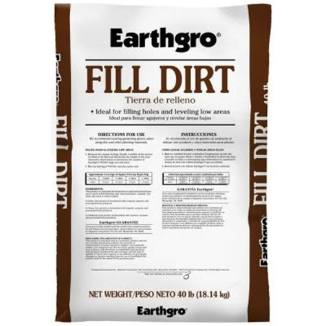 earthgro 40 lb fill dirt 73040180 the home depot
