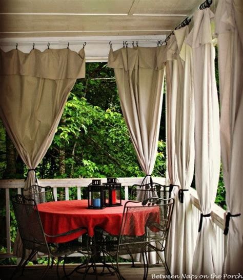 Diy Outdoor Curtains Drop Cloth Curtains For A Porch Add Privacy And Sun