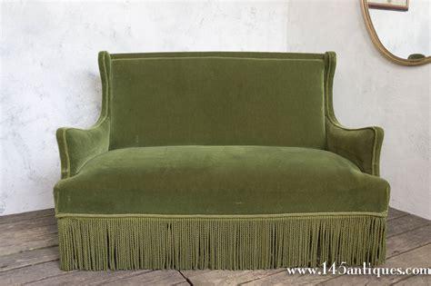 green velvet settee french 19th century green velvet settee for sale at 1stdibs