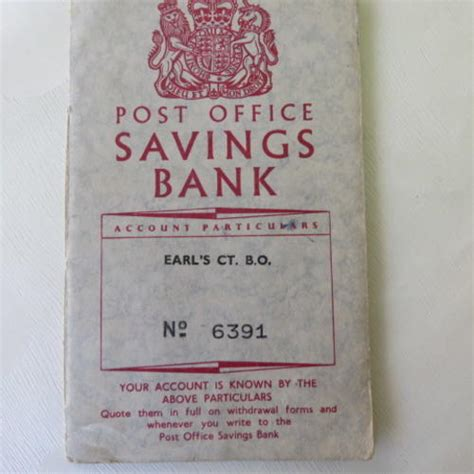 Post Office Book by Other Antiques Collectables Post Office Savings