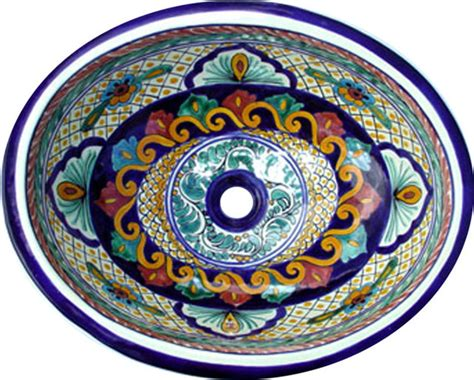 talavera bathroom sinks talavera handpainted spanish style sink small