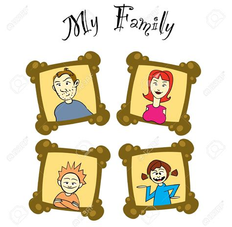 photo clipart frame clipart family picture pencil and in color frame