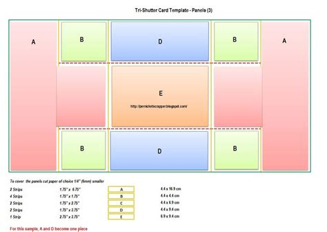 Easy Fold Card Template by Although It Looks Complicated The Tri Shutter Card Is