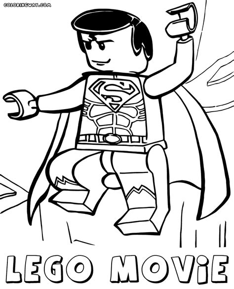 how to draw lego superman coloring pages of lego superman