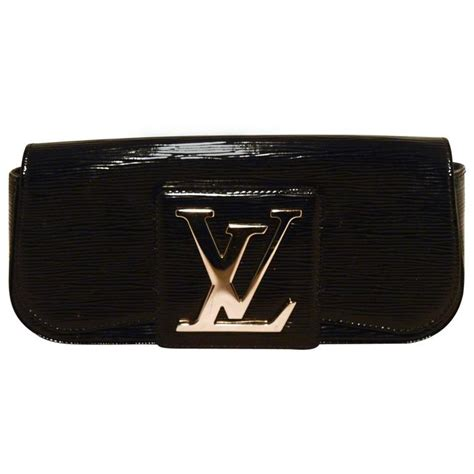 Sale Lv Epi Leather Vl3309 louis vuitton black epi and patent leather clutch for sale at 1stdibs