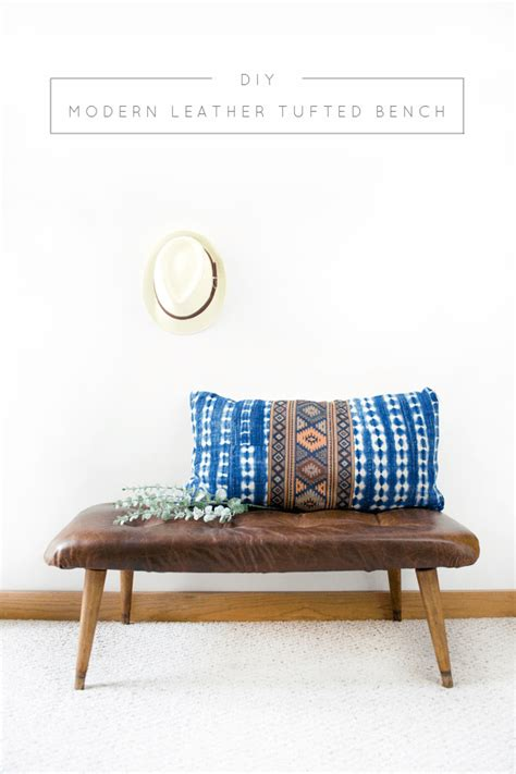 diy tufted bench diy modern leather tufted bench brepurposed soapp culture