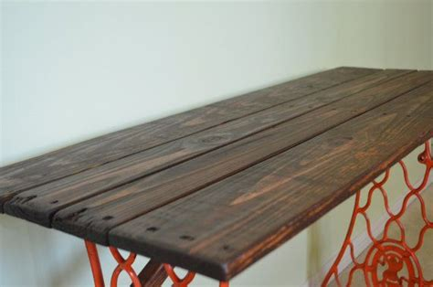 Upcycled Console Table Console Table Made From Singer Sewing Machine Legs And Pallet Wood Upcycled Future Projects