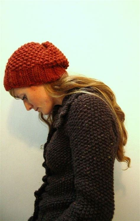seed stitch knit hat pattern knitting pattern autumn hat seed stitch bulky pdf