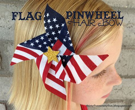 direction make hair bows 3595 flag pinwheel hair bow