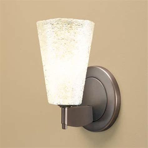 White Wall Sconce Bling Ii Bronze One Light Wall Sconce With White Textured Glass Modern Wall Lighting By