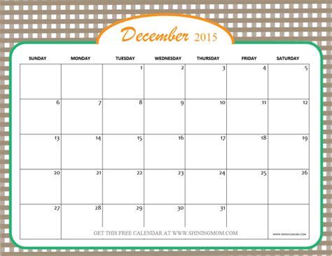 printable december 2015 calendar pinterest december 2015 calendars christmas themed designs