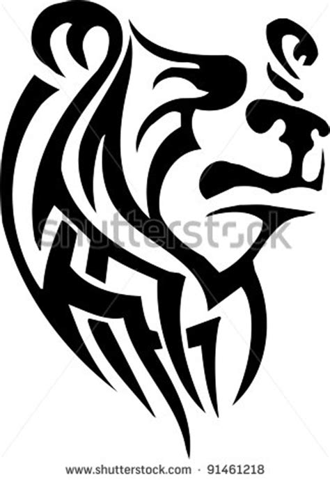 tribal bear head tattoo grizzly standing clipart clipart panda free