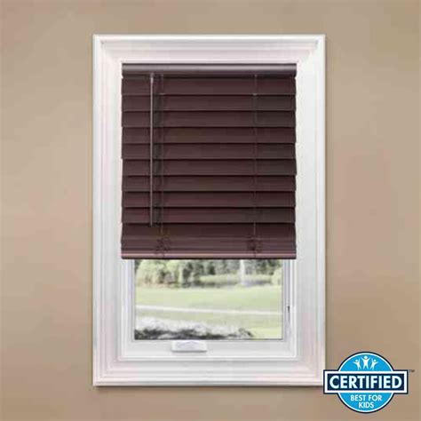 Home Decorators Collection Faux Wood Blinds by Home Decorators Collection Espresso Cordless 2 1 2 In Premium Faux Wood Blind 34 In W X 64