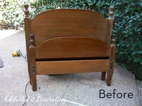 headboard into bench how to turn a head foot board into a bench 187 curbly