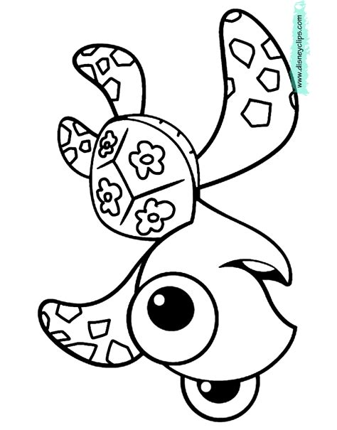 nemo squirt coloring pages finding nemo coloring pages disney coloring book