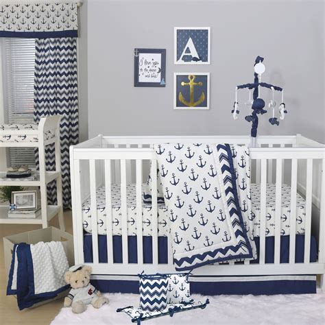 boat bed sets winsome anchor crib bedding