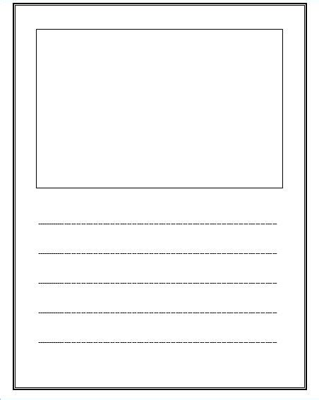 creative writing paper template free lined paper with space for story illustrations