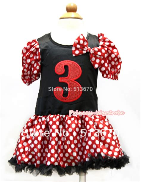 Promo Rd Shan Polka minnie polka dots sleeves black princess dress