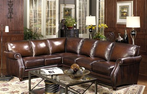 leather living room sectionals furniture brown leather sofa with curved arm and back