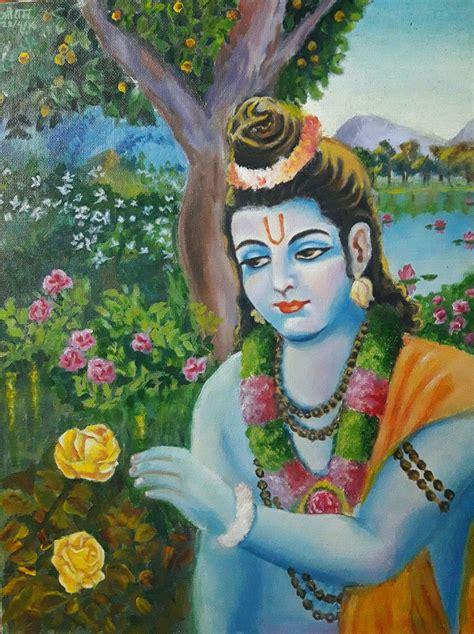 figurative arts paintings lord rama  garden
