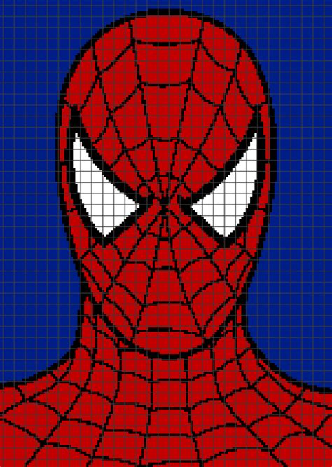 spiderman graph pattern spiderman graph and row by row written crochet