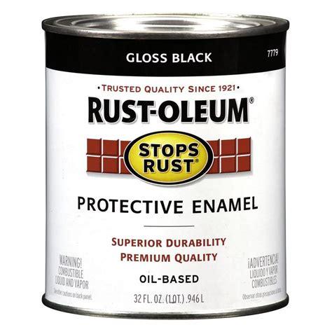 Rust Oleum Stops Rust 32 oz. Black Gloss Protective Enamel Paint 7779504   The Home Depot