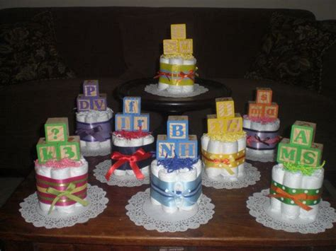 266 Best Images About Baby Shower On Pinterest Jungle Baby Block Centerpiece