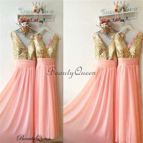Coral Bridesmaid Dress by Coral Bridesmaid Dresses Sequins Bridesmaid Dress Gold