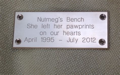 engraved bench plaques bench plaque solid brass deep engraved chamfered edges 32mm tall ideal as