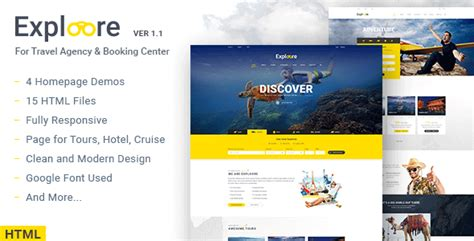 Exploore V3 1 0 Tour Booking Travel Theme exploore travel travel tour booking html template by