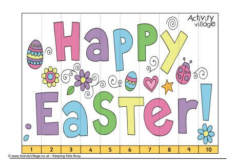 printable easter jigsaw puzzles easter counting jigsaw