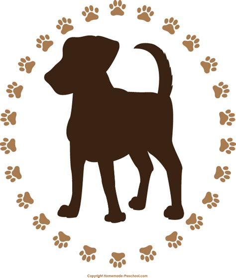 puppy printable free paw prints clipart