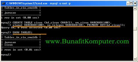 perintah untuk membuat tabel pada html adalah perintah sql untuk membuat tabel dalam database mysql