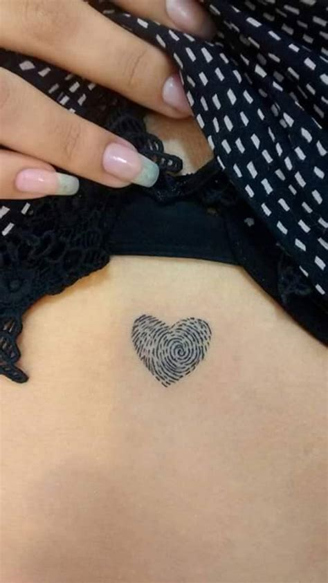 small heart tattoos for women small fingerprint tattoos for