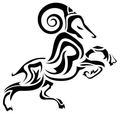 tribal ram tattoos aries ram design tribal stencil just