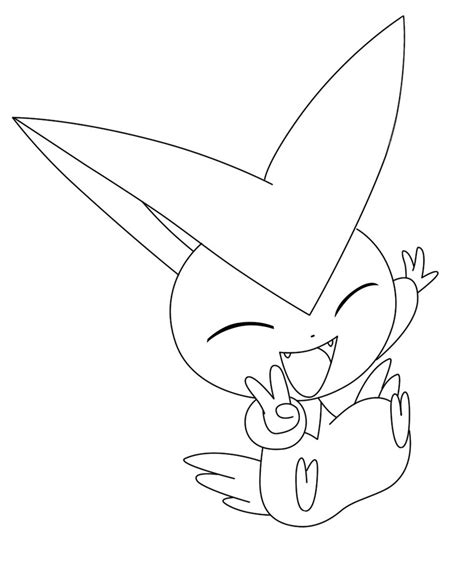 Pokemon Coloring Pages Victini | pokemon bw victini lineart by kirlia02 on deviantart