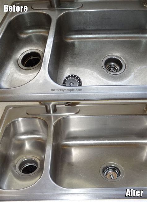 best way to clean stainless steel kitchen sink 17 best ideas about clean stainless sink on