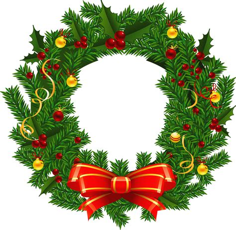large transparent christmas wreath png picture clipart