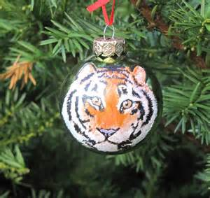 tiger christmas bulb ornament black friday by
