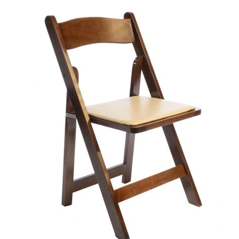 fruitwood folding chair rental rent fruitwood folding chairs w ivory padded seat