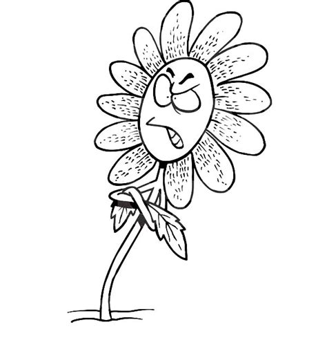 cartoon flower coloring page click the cartoon wolf with flowers coloring pages to view